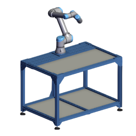 ur5e workstation with adjustable leveling feet