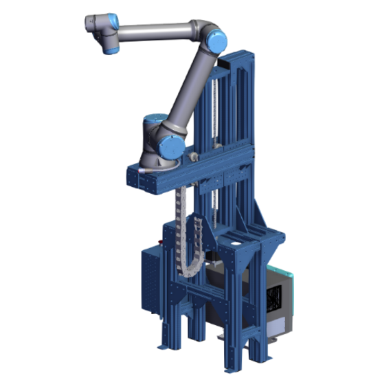 Variable height robot stand for UR10